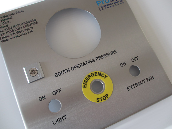 Manually Engraved Stainless Steel Control Panel